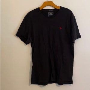 ABERCROMBIE & FITCH BLACK SHORT SLEEVE SHIRT LARGE